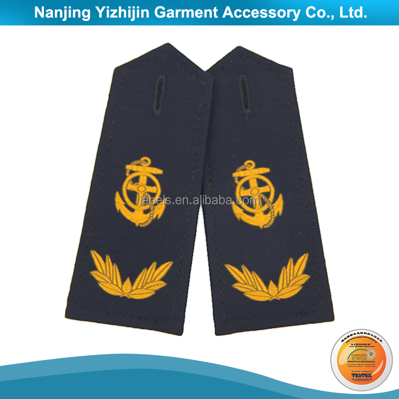 shoulder badge,shoulder epaulette with gold bullion from manufacturer china
