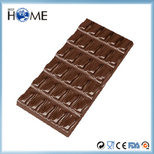 Top Quality PC Plastic Plain Chocolate Bar Mold