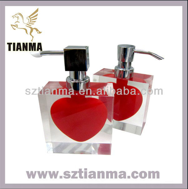 Creative home decoration heart shaped hand soap dispenser