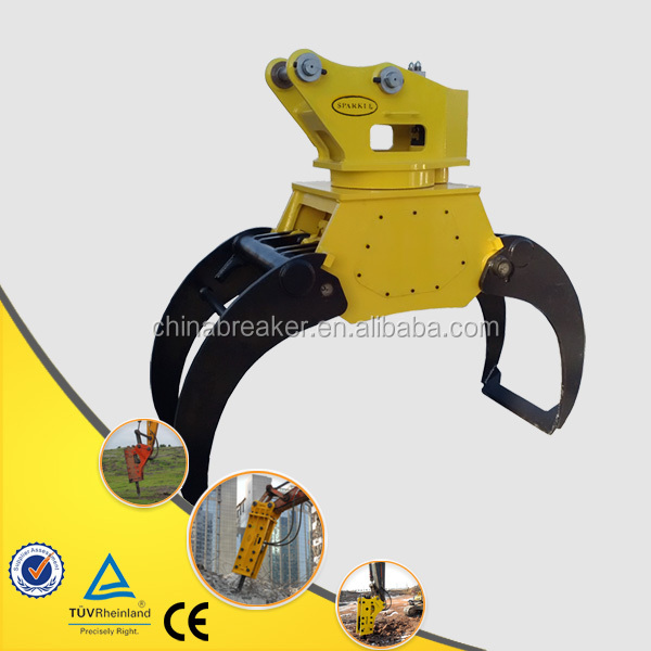 hydraulic rotating tractor stone grapple wood log grapple wood grabber stone grabber