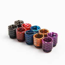 Hot Selling Ecig TFV8 TFV12 Epoxy Resin Drip Tip 810 Snake Skin Mouthpiece Dripper for TFV8 China Supplier