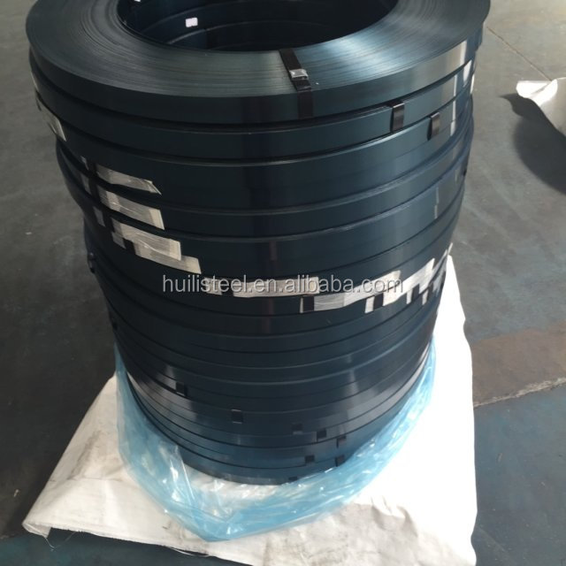 blue harden and tempered steel packaging plastic strip export from china