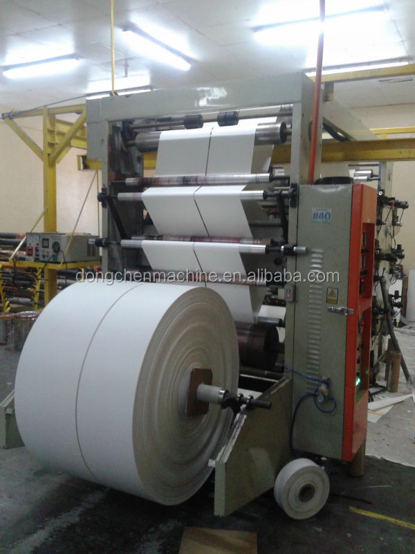 Two paper rollers water-based ink flexo printing machine