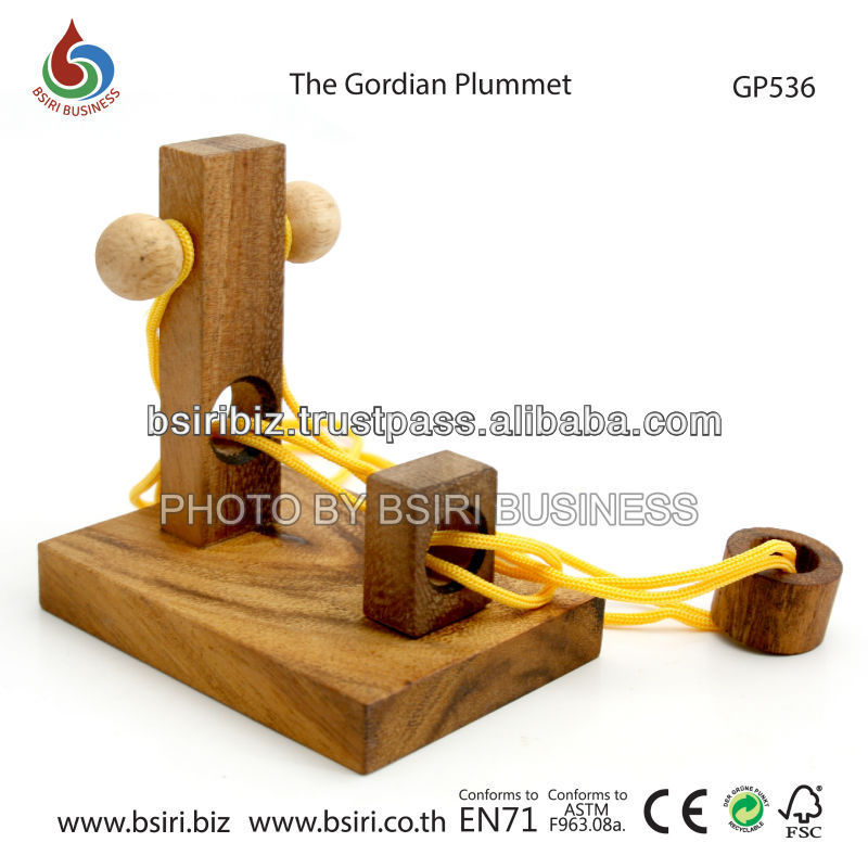 wooden toys The Gordian Plummet