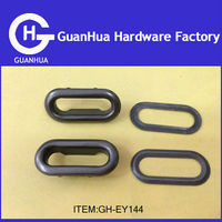 metal decorative oval grommets for clothing Dull black color