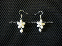 Dangle Earrings Fresh Water Pearls Handmade in Thailand Fair Trade Jewelry