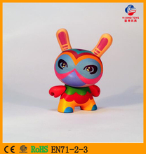 Making Hot Custom Own Design Adorable Animal Rabbit Munny DIY Vinyl Toys/OEM Do It Yourself Kidrobot Munny Dunny Vinyl Toys