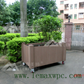 WPC outdoor Mobile flower pot