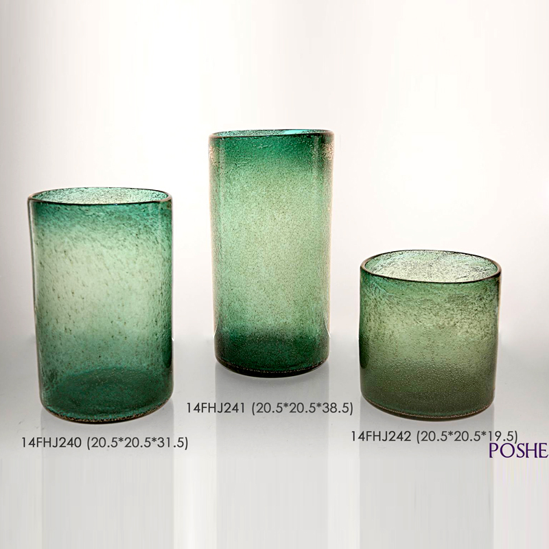 New design popular luxury frosted glass cylinders