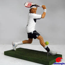 men tennis player custom mini sport figurine