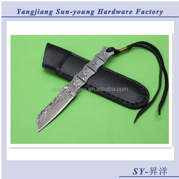 Damascus Steel Hand Made Survival Cutter Outdoor Knife Hunting Knife Fashion Design SY-12