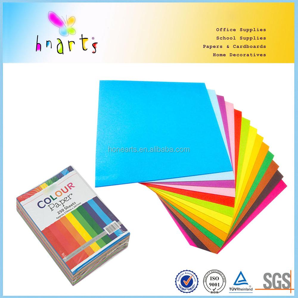 A4 legal letter size colour copy paper a4 size color paper for Colour paper craft