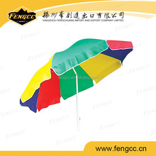 polyester standard size beach umbrella with cheap promotional price