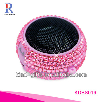 2013 Christmas Gifts Bling Bling Rhinestone Diamond Outdoor Speakers With Crystal China Supplier