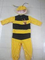 2pc set yellow busy bee baby animla costume