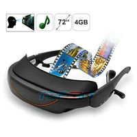 "72"" TV Personal Theatre 3Dvideo glasses, 4GB memory, AV IN support TV, FPV, PS2, Wii"