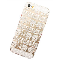 Transparent Plastic Clear PC Multi-pattern white flower phone cases Case Cover Skin For iPhone 5 5C 5S 6 6S Plus 7