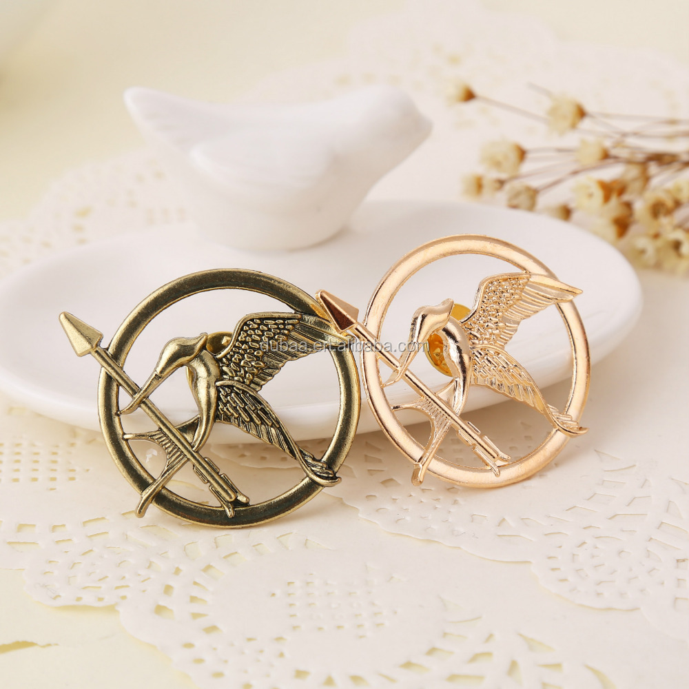 The Hunger Games - Part 1 Costume Cospaly Brooch Pin Badge Cathcing Fire Ridicule Birds Broochs Golden/Bronze/Silver