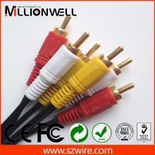 5 pole 3.5mm plug to 3 rca cable,high-quality cable vga rca