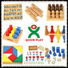 2017 Children's montessori toys wooden puzzle math educational materials 216 full sets (1 set=216pcs) QX-177F