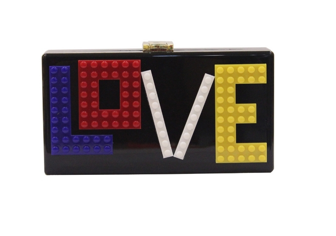 color max letter love acrylic box party clutch messager bag Trunk evening bag women mini wedding tote candy color clutch flap