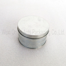 round zinc white tin can