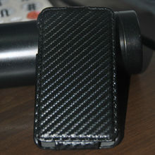 Carbon fiber pattern leather flip cover case for lg optimus g pro lite
