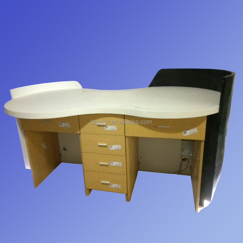 fast food restaurant furniture,small pure acrylic white and black reception counter