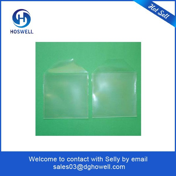 Clear Colored Plastic CD Sleeve with flap one pocket two pockets