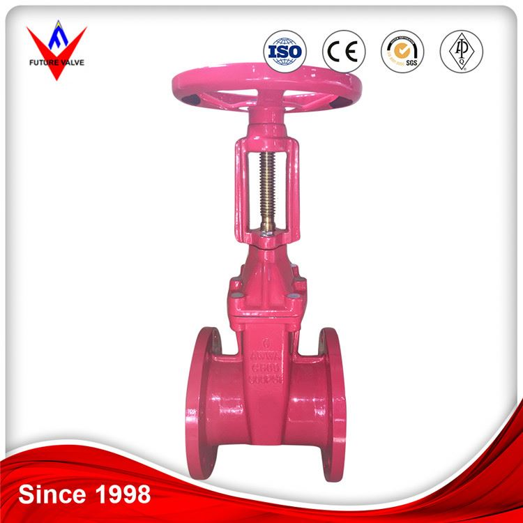 Os&y Trim ANSI Cast Iron Fire Protection Resilient Seated Gate Valve Dn80