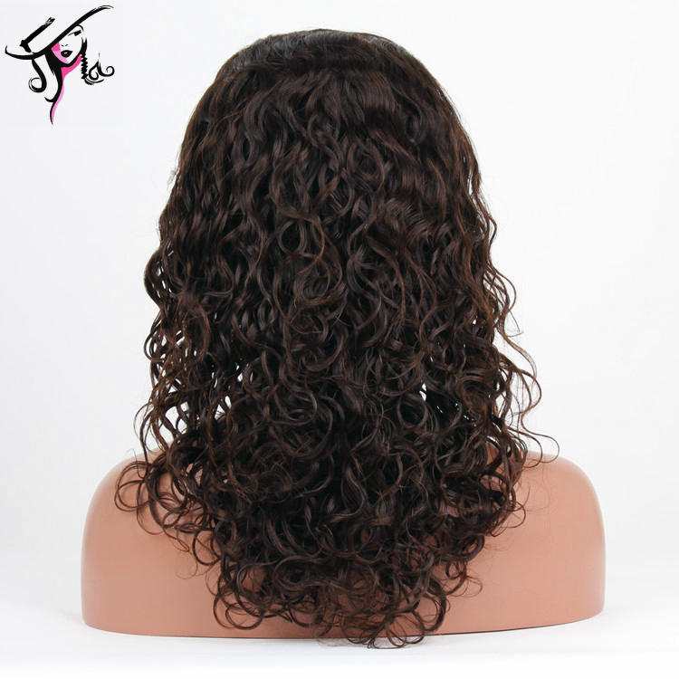 real mink peruvian hair human 18 inch water wave lace front wig with baby hair