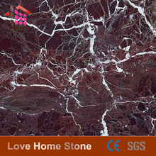 Cheap factory 30x30cm polished Rosso Lepanto marble quality first