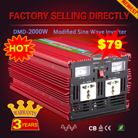 Super Promotion!!! Hot selling dc 12v 24v 48v to ac 220v modified sine wave power inverter 2000w 3000w