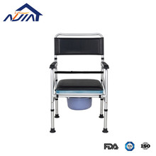 Rehabilitation portable toilet and bathroom shower commode chair for elder disabled and hosppital beside use.