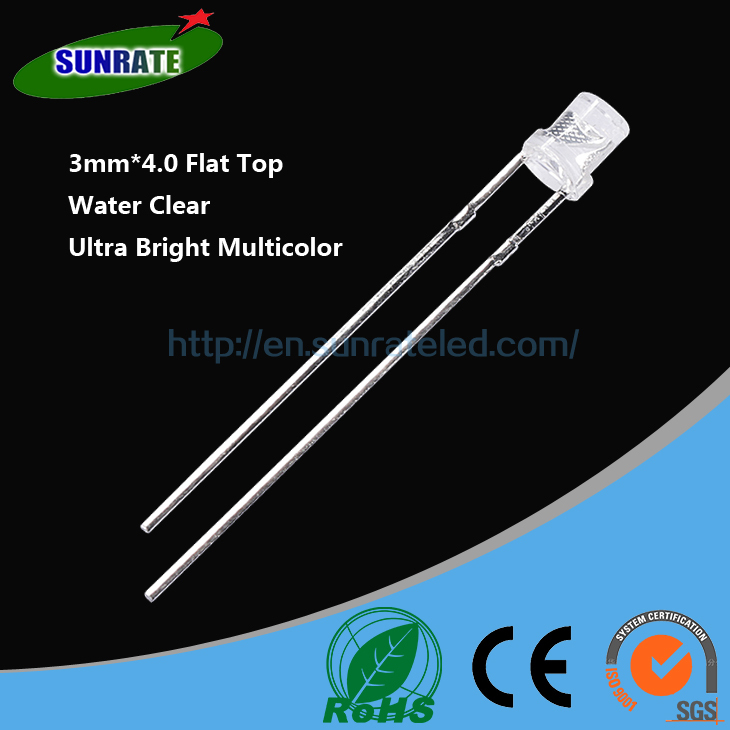 7 Years Verified Supplier Emitting Diode High Quality 3mm*4.0 Flat Top Lamp Led Diode Light