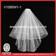 V1085W1-1 Sparkling Sequins and Glass Beading for Bridal veil