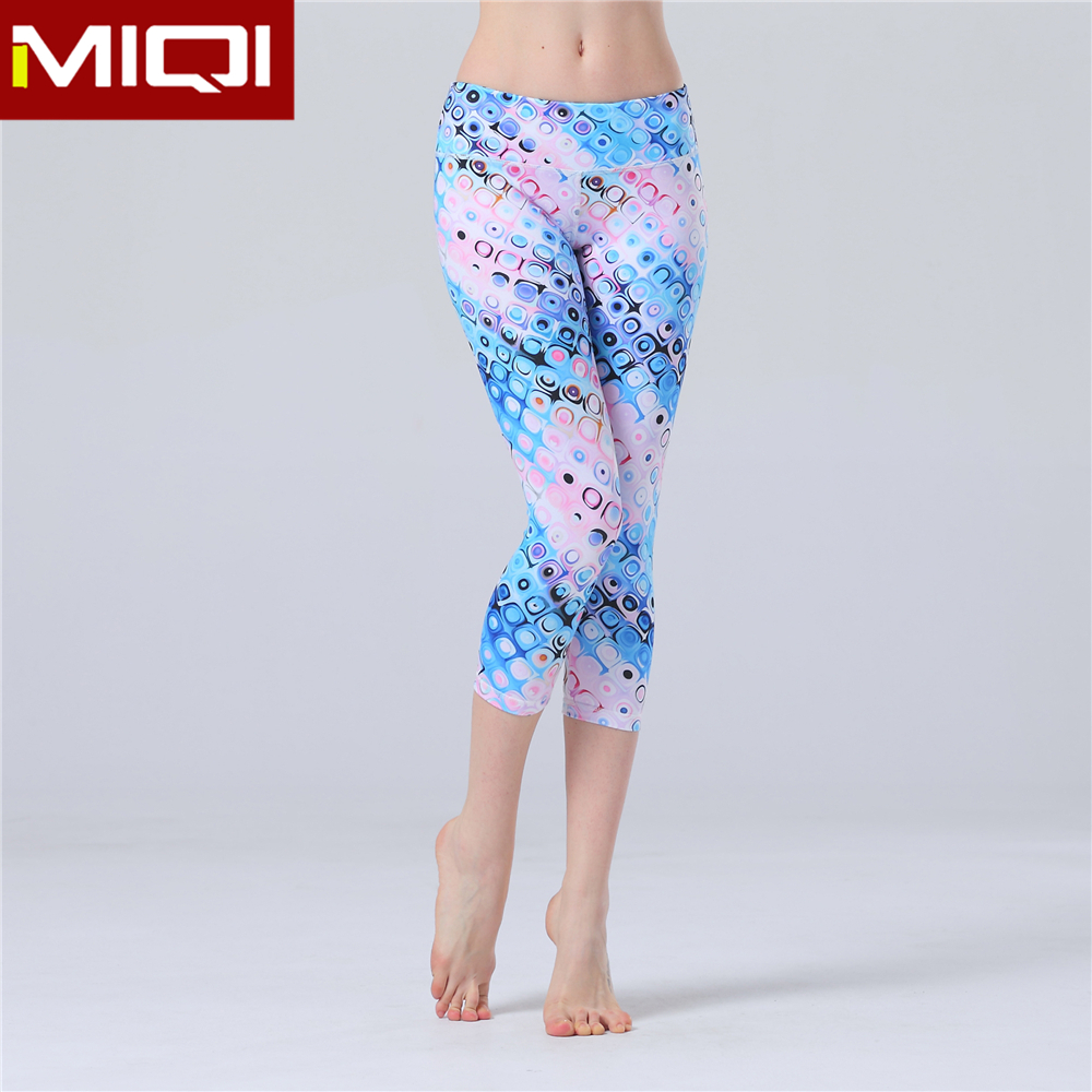 women sexy designer work out jogging fitness yoga capri pants manufacture wholesale