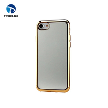 New Arrival Transparent TPU Back Cover for iPhone 8 Plus Electroplating Clear Case