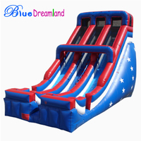 popular Free Printing inflatable bouncy castle with water slide