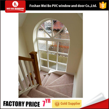 Low-E glass arch shape fixed glass panel window