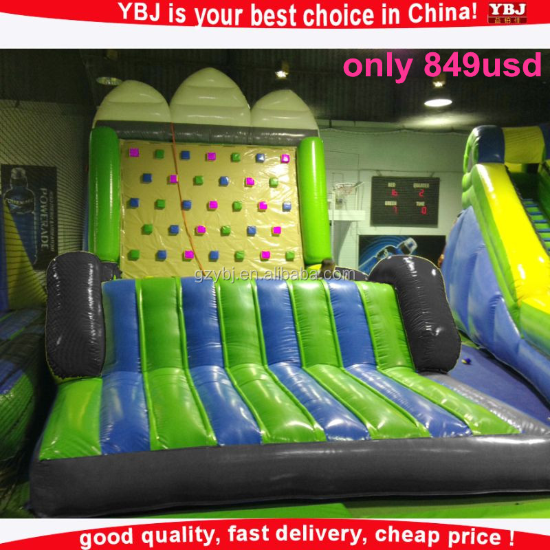 2016 YBJ New design <strong>inflatable</strong> climbing games, <strong>inflatable</strong> rock climbing wall, <strong>inflatable</strong> climbing wall