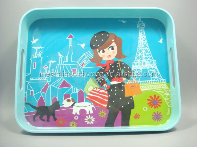 Extra Large Custom Printed Melamine Square Serving Tray