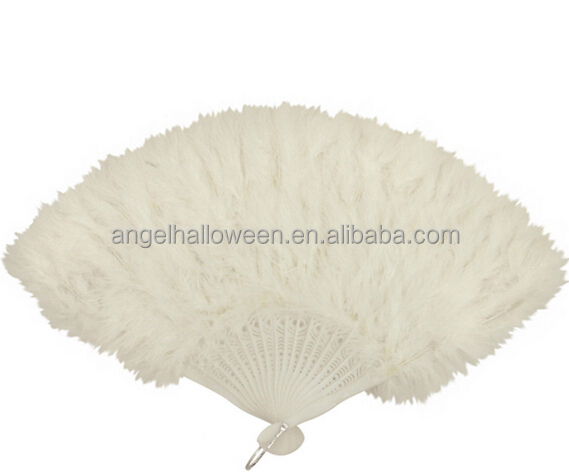 Wholesale Feather White Feather Fan Feather Hand Fans For Birthday Party SZ2010