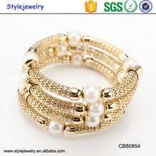 CB80854 Bulk Custom New Design Lucky Metal Wrap Gold Charm Bracelets For Women Jewelry Girls