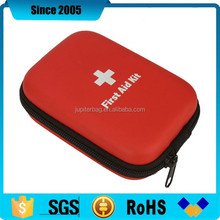 red pu waterproof shockproof eva first aid kit box