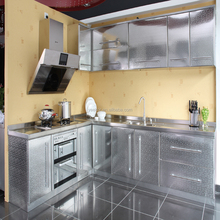 HOT sell stainless steel and aluminum kitchen cabinet directly from China leading SS kitchen cabinet manufacturer