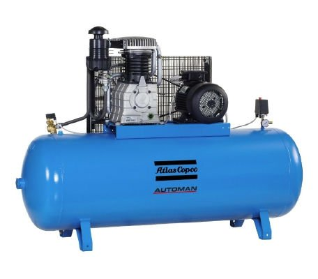 Oil-lubricated aluminum piston compressors, 1.5-7.5 kW / 2-10 hp
