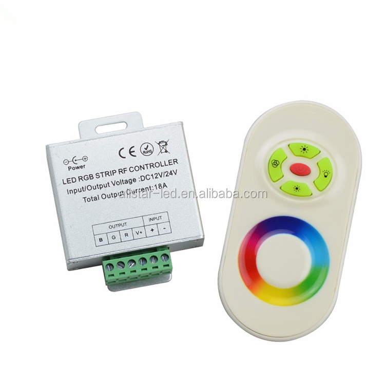 CE ROHS Magic Dream Color RGB LED Controller,DC12,24V 5 Keys Aluminum shell RF Touch RGB controller for led strips,wall lights