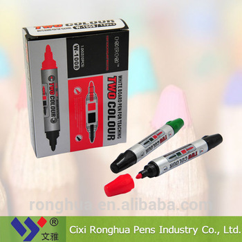 two tips whiteboard marker pen from China