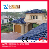 Building materials ASA plastic pvc roof tile/new technology construction material/synthetic resin roof tile